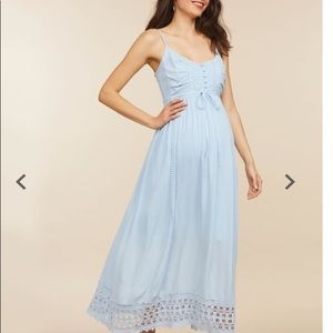 Baby blue maternity dress size large